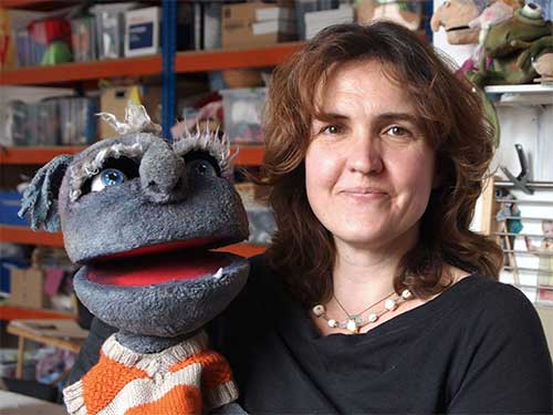 Holly Miller - puppet at props at Stuff and Nonsense Theatre Company