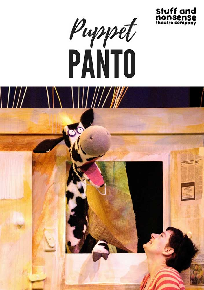 Puppet Panto poster for Stuff and Nonsense Theatre Company
